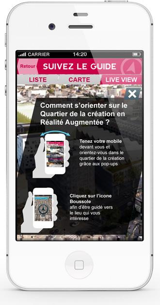 Mobile app Nantes Création - tutorial