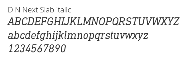 Sweepay typography - DIN Next Slab