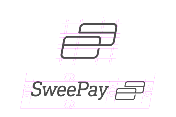 Sweepay logo contruction