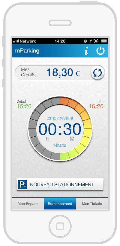 mParking - mobile payment - timer2