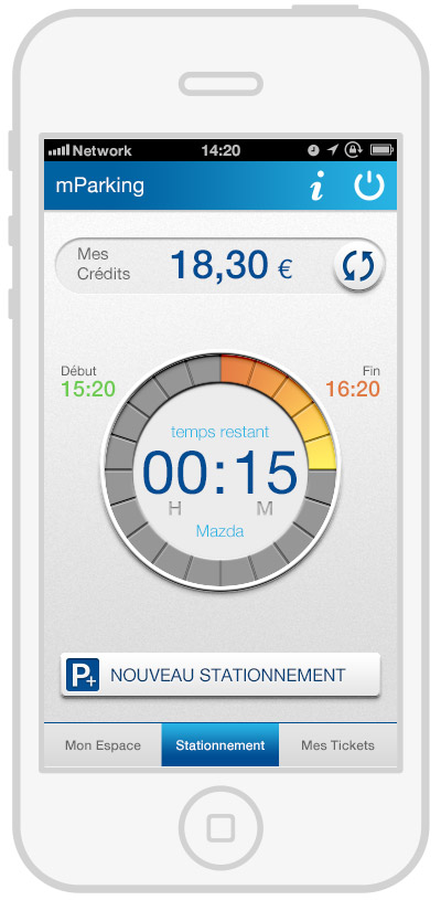 mParking - mobile payment - timer3