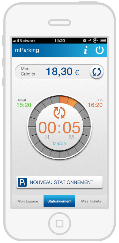 mParking - mobile payment - reload time