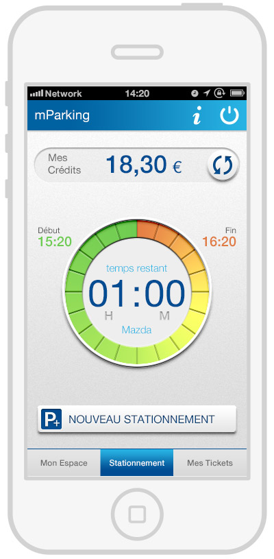 mParking - mobile payment - timer1