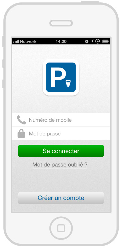 mParking - mobile payment - signin
