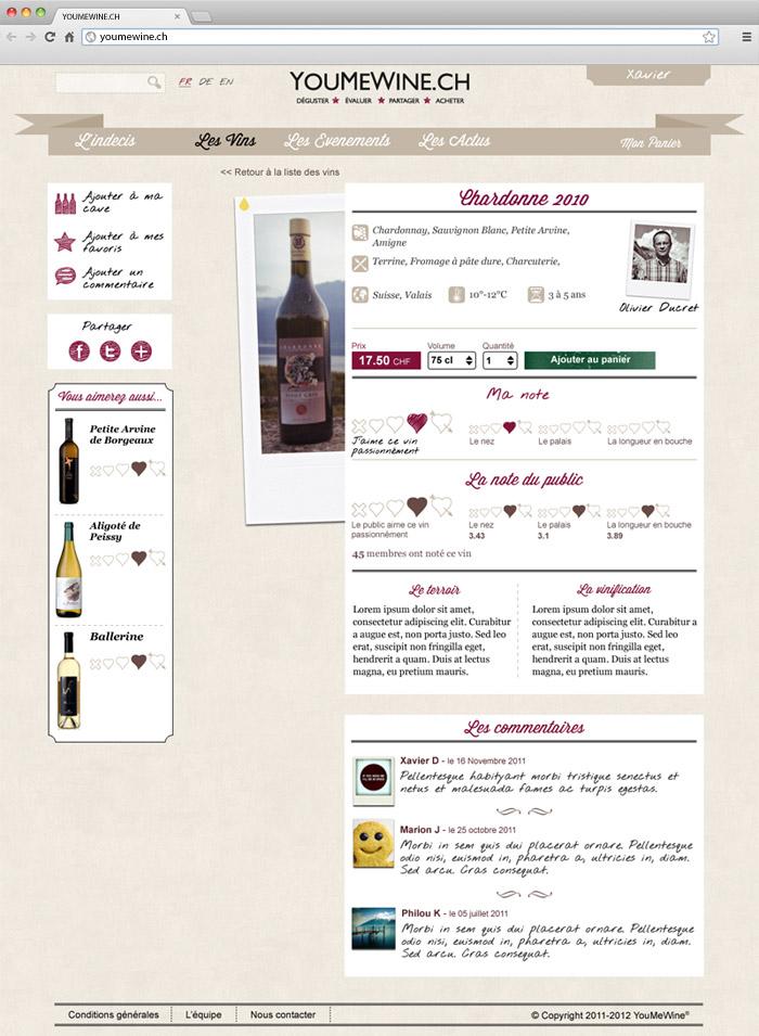 Youmewine - wine page