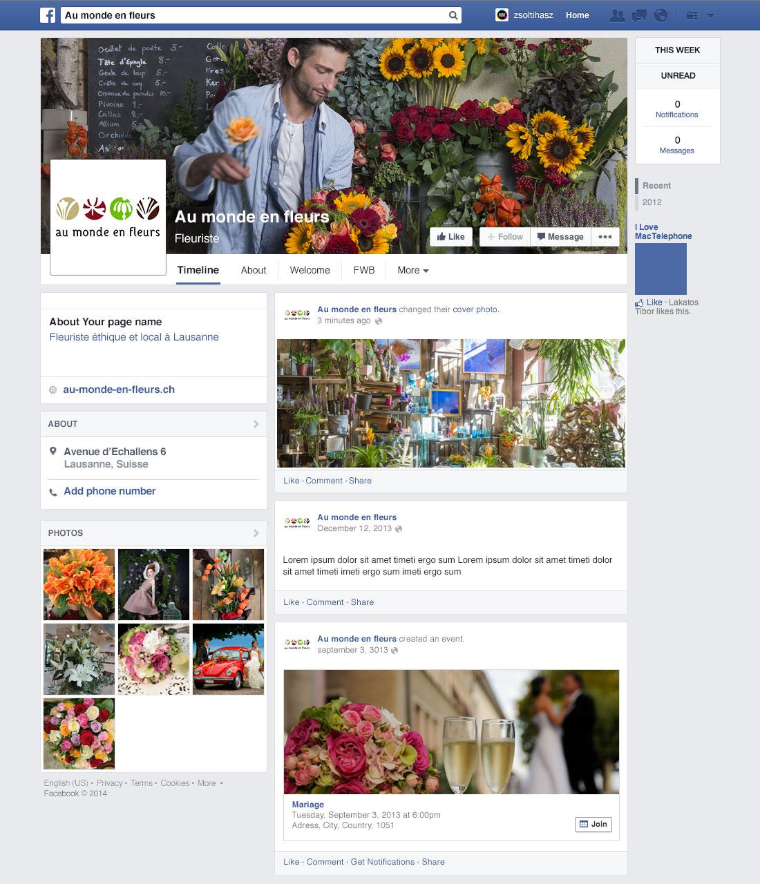 Au monde en fleurs - Page Facebook$
