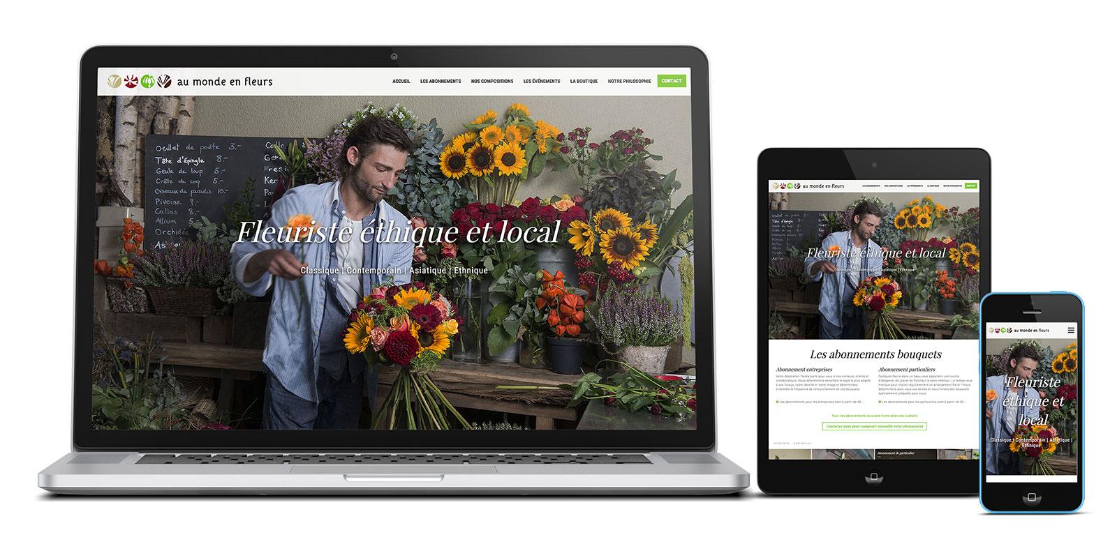 Au monde en fleurs | Responsive Web Design