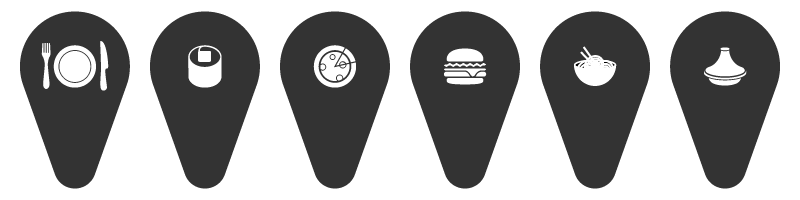 QLCM set of pin icon search 2
