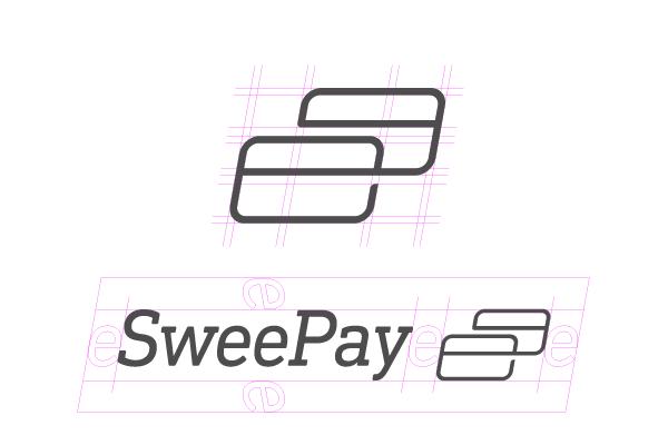 Sweepay | Détail de construction du logo