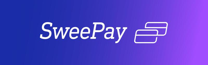 Sweepay | logo sur fond coloré