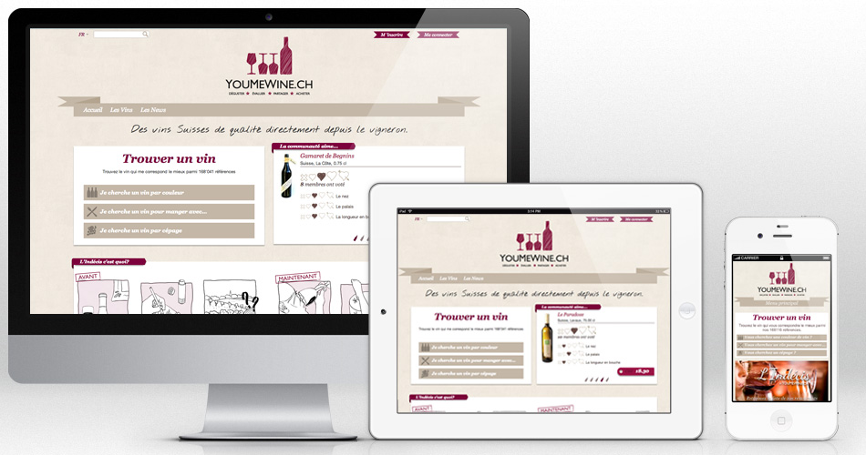 Youmewine - Responsive Web Design website